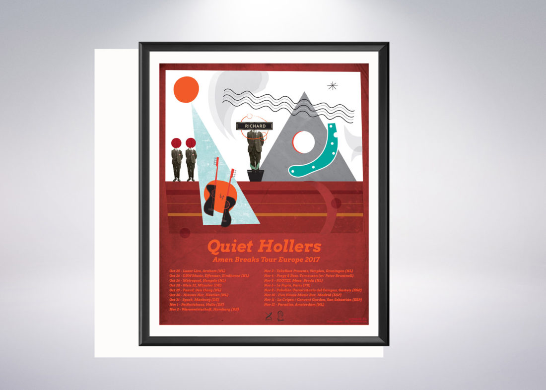 Cartel Quiet Hollers realizado por arteuparte