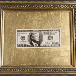 Trump Dollar Bill in aurum box