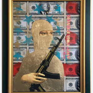 LADY AK IN DOLLAR TRUMP FLAG